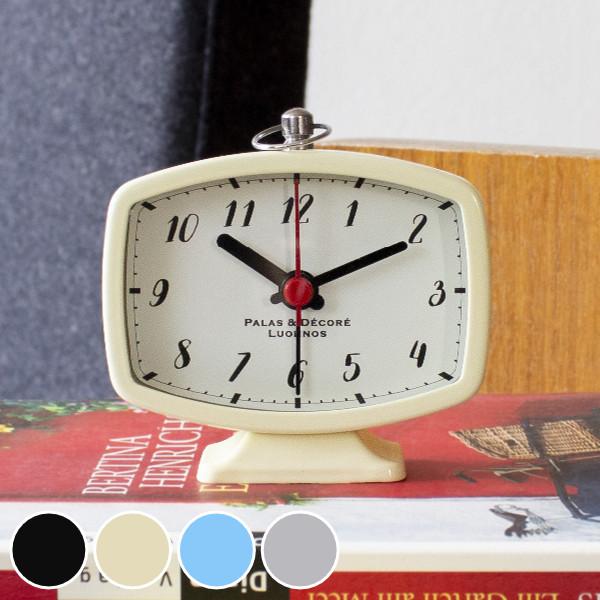 レトロ調デザインがお部屋のアクセントになるアラームクロック 目覚まし時計 コンパクト 小さめ 置き時計 掛け時計 時計 掛時計 置時計 クロック めざまし インテリア 持ち運び 旅行 新入荷 流行 アラーム アナログ 目覚まし めざまし時計 専門店