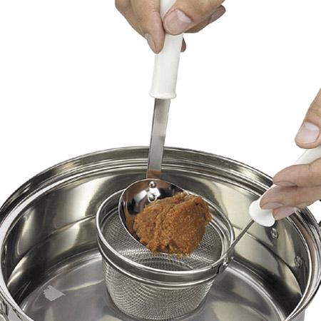超特価SALE開催 毎週更新 味噌こしやだし取り 多用途に使えるお玉付きのみそこし 万能こし 味噌コシ こしき キッチンツール キッチン用品 お玉付き みそこし セット 味噌こし
