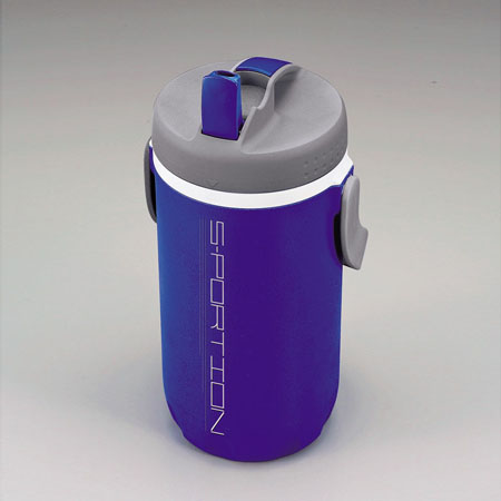6b3ccadf42 Blue water bottle sport jug sportion 2 liters (insulated high-capacity  direct drinking water