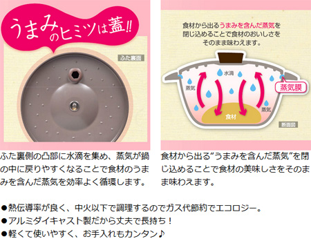无水锅非水味道潘 24 厘米 IH (与无水烹饪生态烹调用两个家用)