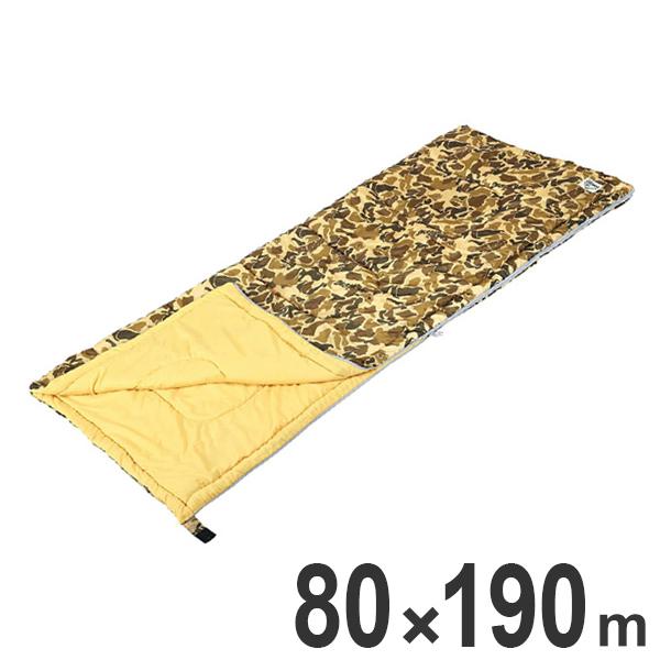 シュラフ キャンプアウト カモフラージュ 封筒型 バッグ付き ( コンパクト 軽量 防寒 撥水加工 保温 アウトドア キャンプ 寝袋 )