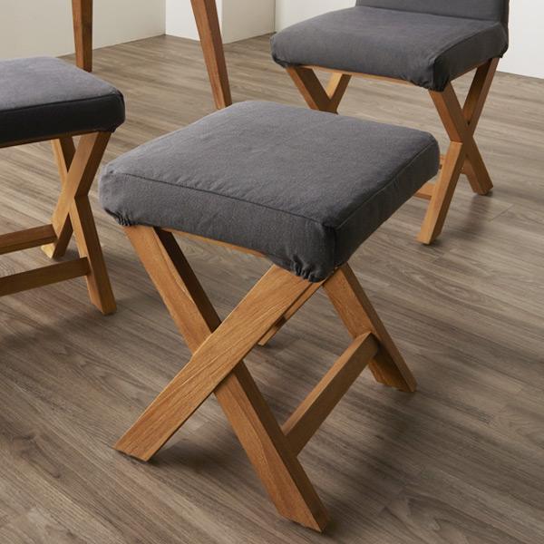スツール チーク無垢材 ( 送料無料 椅子 いす 背もたれなし 食卓 イス チーク材 無垢材 木製フレーム リビング ダイニング キッチン )
