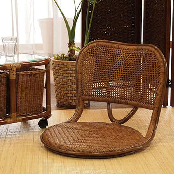 籐 ラタン 籐座椅子 ( 送料無料 座椅子 椅子 イス フロアーチェアー 正座椅子 やわらか 通気性 涼しい あじろ編み 和室 籐 ラタン 軽い 自然素材 リラックス )