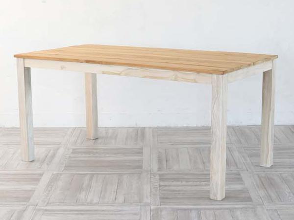 ダイニングテーブル チーク 天然木 アジアンテイスト 幅150cm ( 送料無料 テーブル table 机 木製 食卓用テーブル 食卓テーブル 4人掛け 四人掛け ナチュラル 北欧 カフェ おしゃれ )