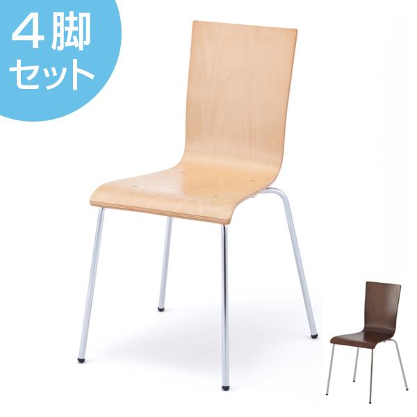 オフィスチェア プライウッドチェア 4脚セット シンプル チェア イス オフィス用 ( 送料無料 椅子 オフィス スタッキング スタッキングチェア チェアー 会議椅子 ミーティングチェア オフィス家具 セット 会議室 事務所 )