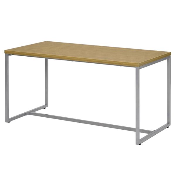 応接テーブル スチール製 ループ脚テーブル 幅110cm ( 送料無料 ソファ 応接室 オフィス家具 ウォルナット ナチュラル テーブル ミーティングテーブル 会議机 グループデスク ハイテーブル シンプル )