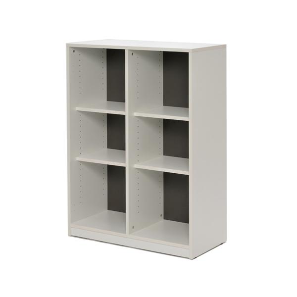 シェルフ 2列3段 ファイルラック 格子型 プリーマ 幅80cm ( 送料無料 ラック 棚 書庫 収納家具 ファイル棚 格子 本棚 カルテラック 80センチ ダークグレー グレー ホワイト 白 )