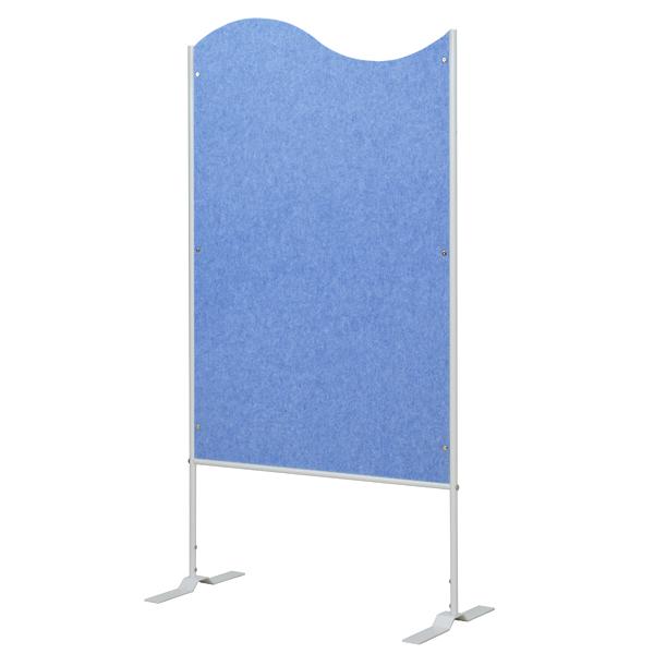 フェルトスクリーン パーテーション 波型 ブルー 約高さ157cm ( 送料無料 パーティション 間仕切り 衝立 パーテイション ついたて 目隠し 仕切り スクリーン オフィス 事務所 部屋 イベント会場 学習塾 塾 )