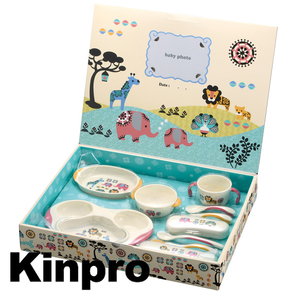 Baby Dinnerware Set Richelle Kinpro KINPRO KS-5 full set (baby kitchen baby meal gift present baby food spoon baby spoon baby fork childrenu0027s tableware for)  sc 1 st  Rakuten : baby dinnerware gift sets - pezcame.com