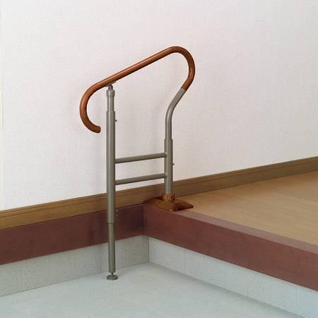玄関用 あがりかまちの手すり 高さ5段階調節 送料無料