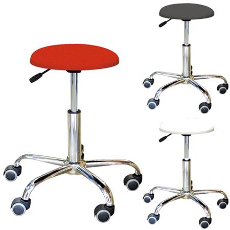 スツール 椅子 ブランチクッションスツール キャスター付き ( 送料無料 高さ調節 背もたれなし パソコンチェア PCチェア イス いす チェア レザー調 ハイチェア 昇降 )