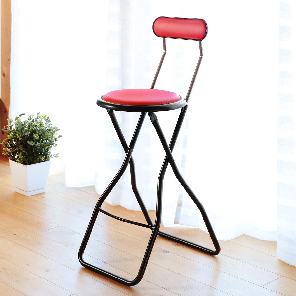 カウンターやキッチンにあると便利なハイタイプチェア 格安激安 折りたたみ椅子 キャプテンチェア ハイタイプ レッド 折りたたみチェア 椅子 チェア 祝日 イス ハイチェアー いす パイプいす カウンターチェア ハイチェア 折り畳み カウンターチェアー 折りたたみ パイプ椅子