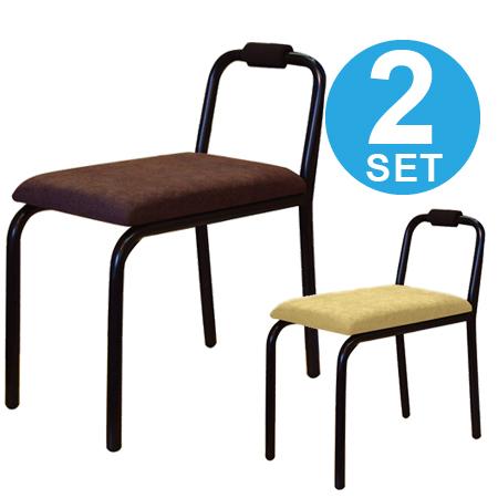 チェアー 椅子 レクテンローチェア 2脚セット ( 送料無料 玄関椅子 小型 パイプ椅子 イス ミニ )