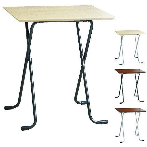 折りたたみテーブル 角型 幅60×奥行45cm 高さ68cm ( 送料無料 デスク 机 作業台 コーヒーテーブル フォールディングテーブル パソコンデスク )