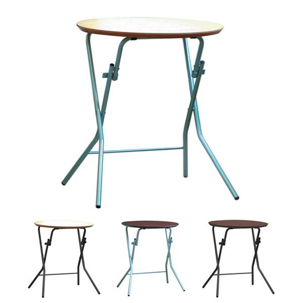 折りたたみテーブル スタンドタッチテーブル 丸型 直径60cm 高さ70cm ( 送料無料 デスク 机 楕円 作業台 パソコンデスク フォールディングテーブル コーヒーテーブル )