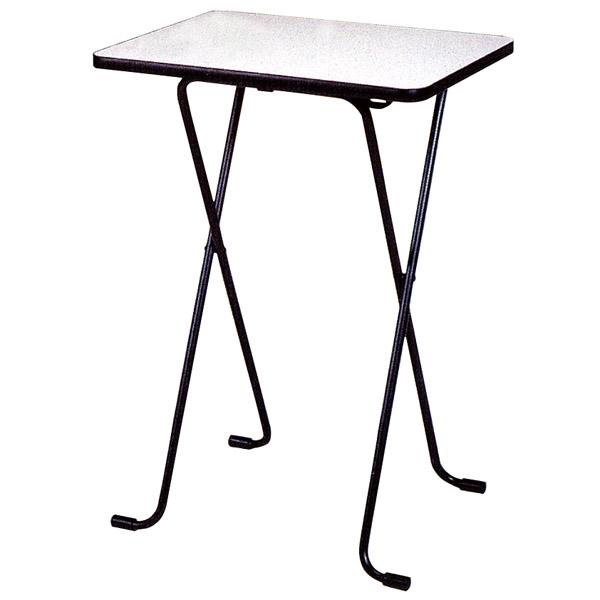 折りたたみテーブル ハイタイプ メラミン天板 幅60×奥行45cm 高さ85cm ( 送料無料 デスク カウンターテーブル 机 コーヒーテーブル フォールディングテーブル パソコンデスク )
