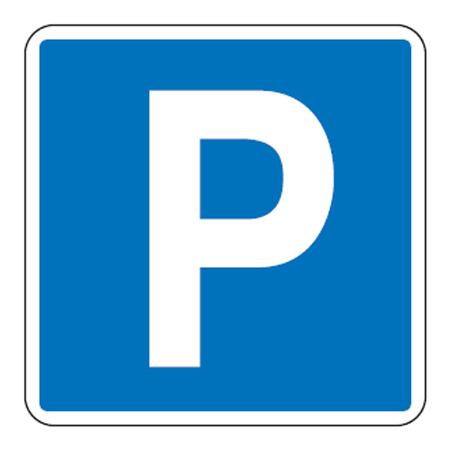 路面道路標識 「P」 駐車場 PARKING 強力粘着テープ付き 軟質エンビタイプ ( 送料無料 安全標識 シール )