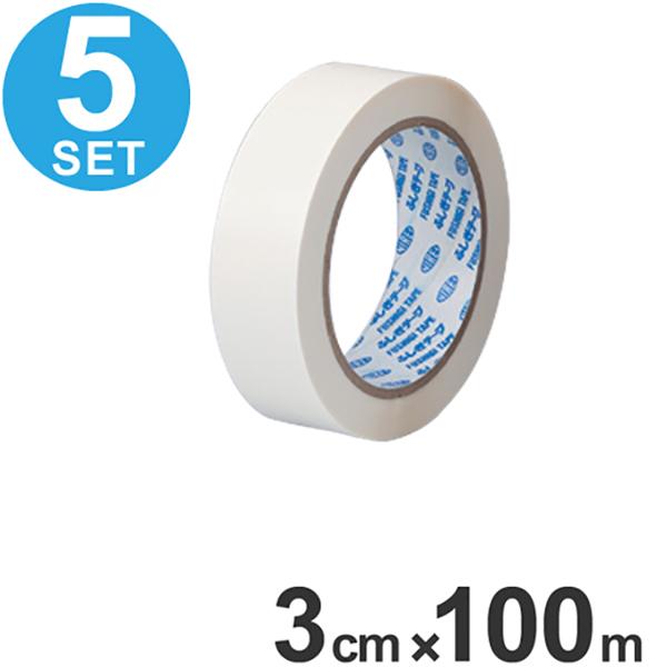 粘着テープ ふしぎテープスペア 3cm×100m巻 5個組 ( 送料無料 接着テープ )