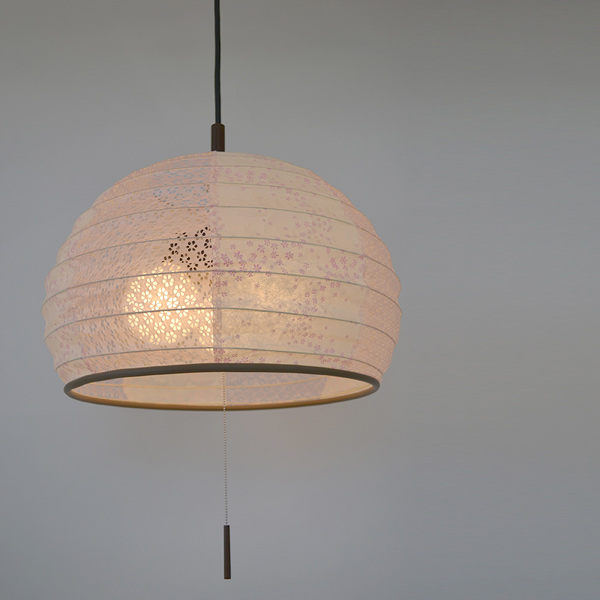 japanese style lighting. pendant light japanese paper lamp flower dance pink x koume 3 style lighting
