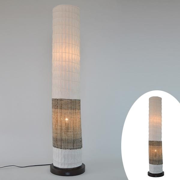 フロアライト 和紙 フロアランプ 麻 2灯 ( 送料無料 フロアスタンド 照明 フロアスタンドライト LED スタンドライト おしゃれ 照明器具 スタンド照明 中間スイッチ 間接照明 国産 日本製 )