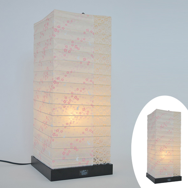 テーブルライト 和紙 テーブルランプ 花うさぎX小梅白 ( 送料無料 照明 テーブル LED 和室 和モダン 電気 デスク ライト 和風 照明器具 テーブル照明 和照明 )