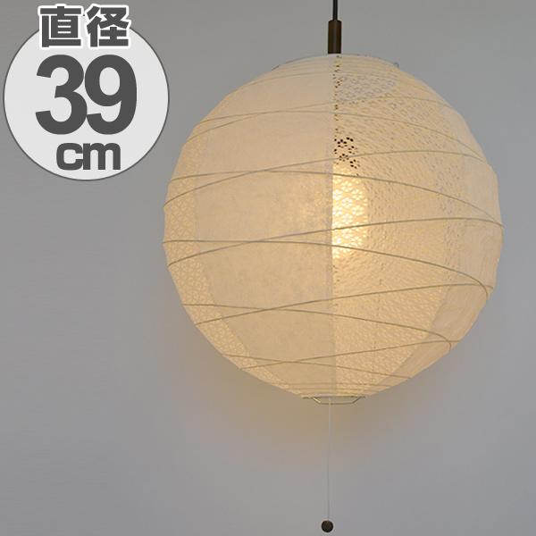 Lantern twin white 2 light 39cm & livingut   Rakuten Global Market: Pendant light Japanese paper ...