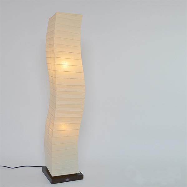 フロアライト 幅21×奥行21×高さ104cm warp ワープ 本美濃紙 SF-2068 ( 送料無料 照明 スタンド照明 ライト スタンドライト LED対応 間接照明 照明器具 和風 和紙 リビング 玄関 和室 美濃和紙 )