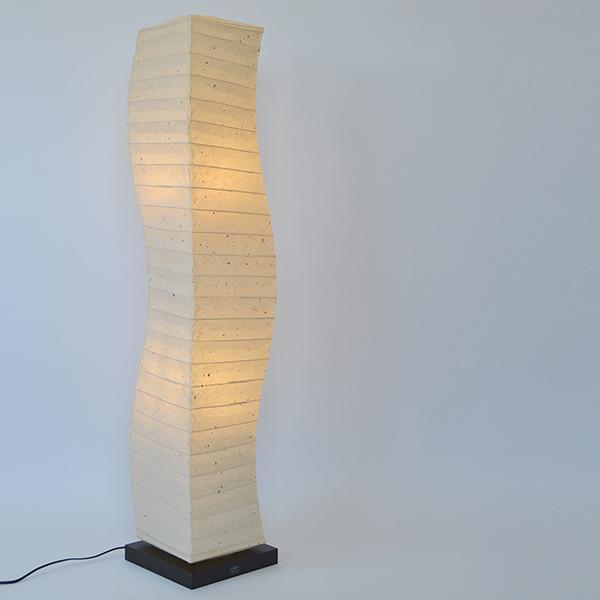 フロアライト 幅21×奥行21×高さ104cm warp ワープ 粕紙 SF-2068 ( 送料無料 照明 ライト 照明器具 間接照明 フロアランプ リビング ダイニング 居間 寝室 店舗 和室 洋室 おしゃれ 本美濃紙 和紙 )