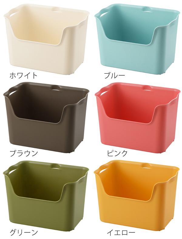 収納ボックス カタス L カラーボックス インナーボックス 引き出し 同色3個セット ( 収納ケース 収納 プラスチック ケース ボックス おもちゃ箱 おもちゃ収納 衣類収納 フルサイズ インナーケース 積み重ね おしゃれ 日本製 )
