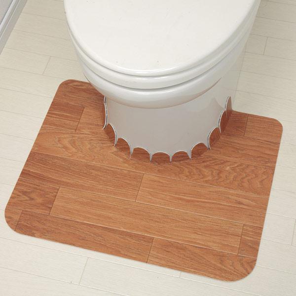 耐水性がよく汚れに強い ズレない吸着トイレマット トイレ マット トイレタリー トイレマット トイレットマット 売店 トイレ用マット ウッド 吸着フロアトイレマット 木目 トイレ用品 期間限定送料無料