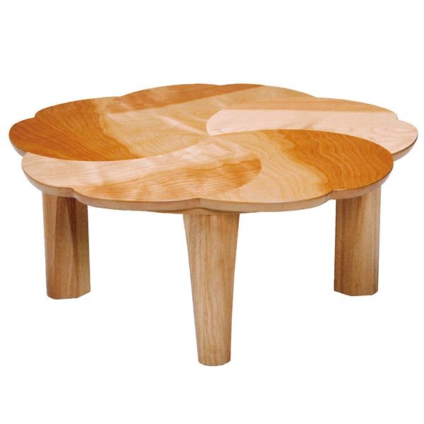 座卓 折れ脚 ローテーブル 木製 桜 幅90cm ( 送料無料 テーブル 折りたたみ ちゃぶ台 サクラ 突板仕上げ チェリー 日本製 和室 和 和モダン )