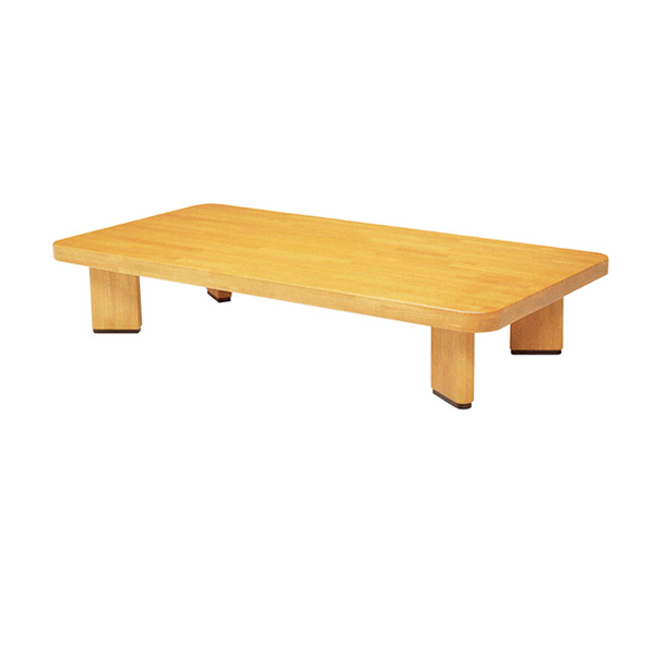 座卓 ローテーブル 木製 オリオン 角型 幅135cm ( 送料無料 テーブル ちゃぶ台 ラバーウッド 無垢集成材 日本製 和室 和 和モダン 角形 ナチュラル )