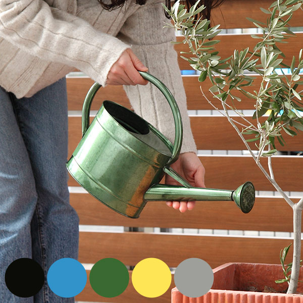 在庫一掃売り切りセール 持ち手が大きなカラフルジョーロ ジョーロ おしゃれ 2.2L じょうろ 2.2リットル ジョウロ 如雨露 じょーろ ガーデン 軽量 園芸 持ち手 ガーデニング 庭 水やり ハス口付き 配送員設置送料無料 カラフル ベランダ