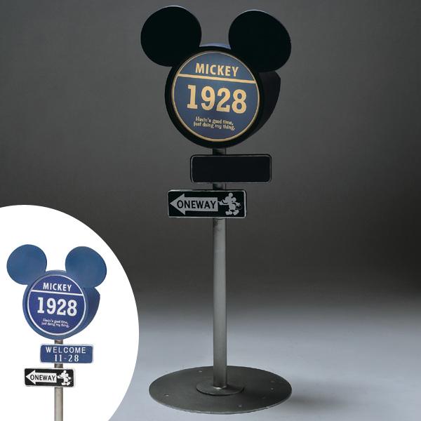 標識ソーラーライト ヴィンテージミッキー ミッキーマウス ( 送料無料 ガーデンライト 灯り ライト ディズニー エクステリア セトクラフト )