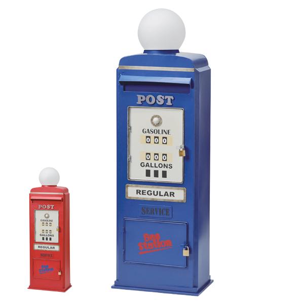 郵便ポスト スタンドタイプ GAS PUMP ( 送料無料 ポスト 郵便受け メールボックス レトロ アメリカン セトクラフト )