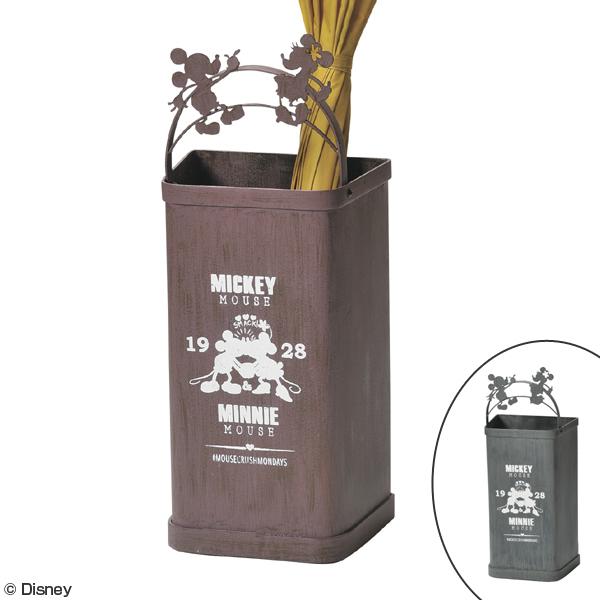 傘立て ミッキー&ミニー アンブレラスタンド ミッキーマウス ミニーマウス ( 送料無料 玄関 収納 傘たて かさ立て ミッキー ミニー ディズニー Disney カサ立て スリム おしゃれ シルエット レトロ ヴィンテージ )