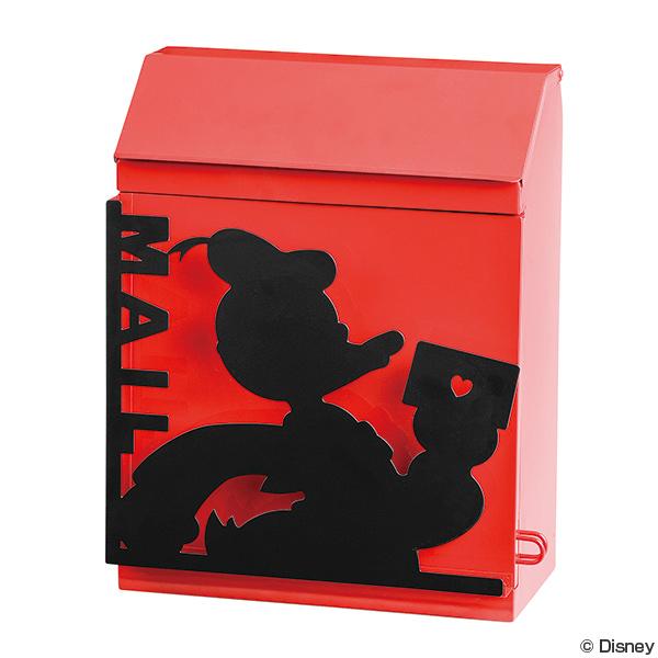 ポスト ドナルドダック 壁掛け 鍵付き 郵便ポスト ディズニー ( 送料無料 郵便受け おしゃれ 壁付け メールボックス 壁 上入れ 前出し ボックス BOX 郵便物 ドナルド disney )