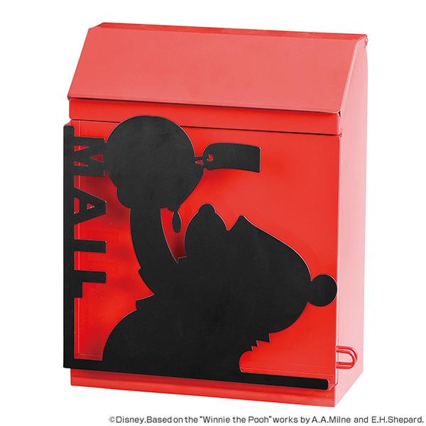 ポスト くまのプーさん 壁掛け 鍵付き 郵便ポスト ディズニー ( 送料無料 郵便受け おしゃれ 壁付け メールボックス 壁 上入れ 前出し ボックス BOX 郵便物 プーさん disney )