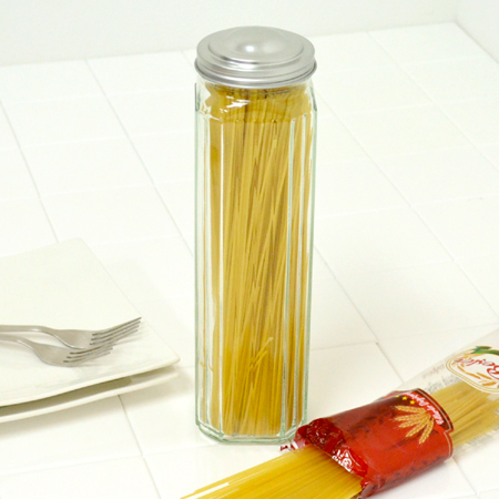 Pasta pot storage containers pasta save bottle made of glass (past case pasta bin past bottle spaghetti spaghetti canister storage jars) & livingut | Rakuten Global Market: Pasta pot storage containers pasta ...