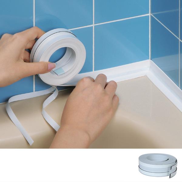 くっつきやすく はがしても跡が残らない 何度でも貼り直しOK 水もれ 貼り直しのできる水もれシャット NEW 浴室 水漏れ 補修 目地 貼る メジ うめる ハイクオリティ 貼るだけ 塞ぐ 貼り直し ヒビ すきま ひび 埋める ふさぐ