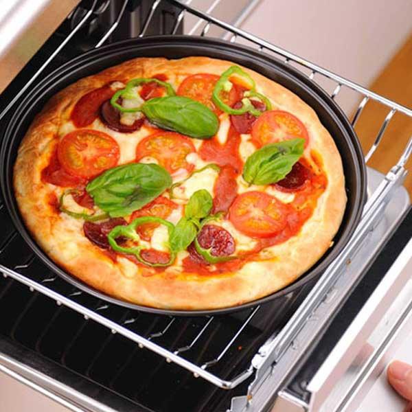 フッ素加工でお手入れ簡単 グリルで簡単おいしく調理できる オーブントレー お手入れ簡単 ピザ焼きトレー グリル用 グリル用トレイ お手入れ簡単グリル用ピザ焼きトレー 保証 オーブントレイ ピザトレー グリル用トレー ピザトレイ 5☆好評
