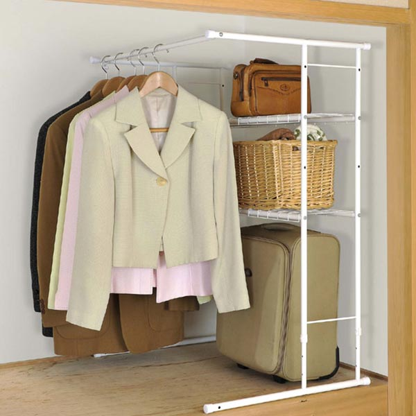 Closet Hanger Rack Height Width Stretching Type The Storage Clothes Closets Kids Telescopic Rods 05p19dec15