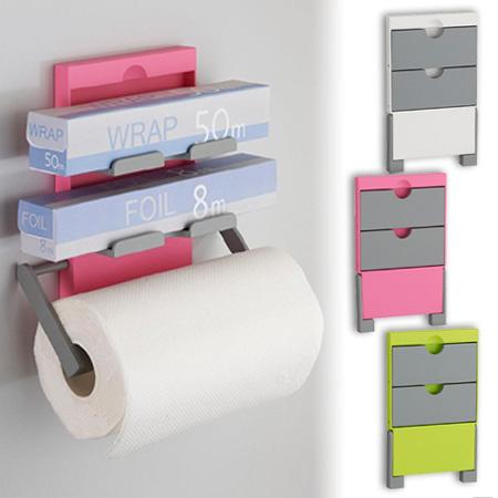 Kitchen Roll Holder Wrap Paper Holder Storage Rack Magnet (paper Towel Roll  Storage Wrap Holder Magnet Kitchen Refrigerator Next To The Kitchen)