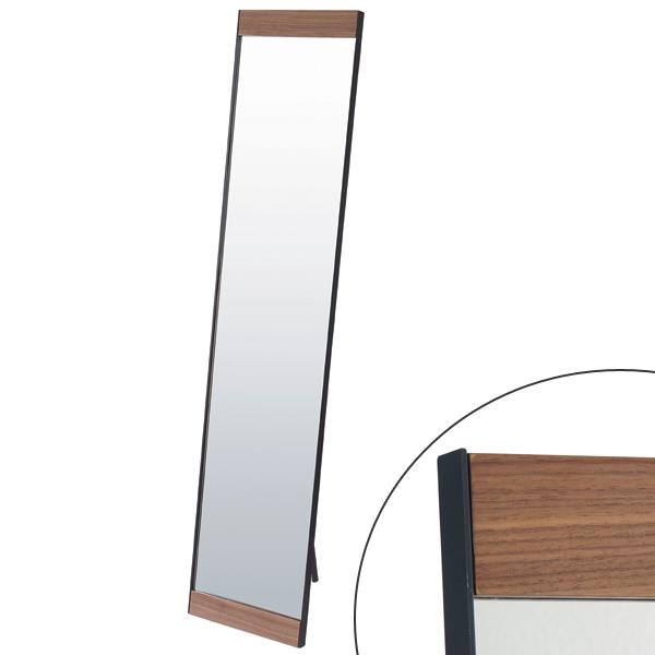 姿見 スタンドミラー シルエット ビンテージ S350 ( 送料無料 鏡 全身鏡 ミラー ドレッサー かがみ 全身ミラー ルームミラー 玄関 洗面所 木目 木製 飛散防止加工 )
