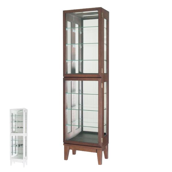 コレクションキャビネット ガラスケース スカーラ1500 幅41cm ( 送料無料 キャビネット コレクション ラック ガラス 収納 シンプル 棚 完成品 ハイタイプ タワー 木製 背面ミラー ディスプレイラック ディスプレイ )