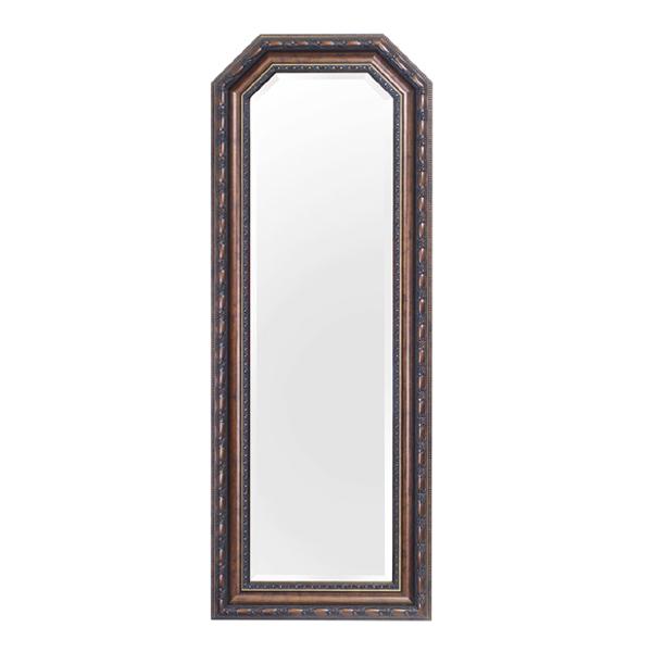 ウォールミラー 壁掛けミラー アンティーク調 高さ120cm ( 送料無料 壁掛け ミラー 鏡 姿見 アンティーク 吊り鏡 壁掛け鏡 日本製 国産 完成品 ブラウン 茶色 120cm 120 )