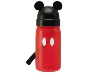 プラスチック製で軽い ミッキーマウスのストロー付き水筒 子供用水筒 ミッキーマウス ◆セール特価品◆ ストロー付 ☆新作入荷☆新品 ミッキー すいとう 350ml プラスチック製 キャラクター