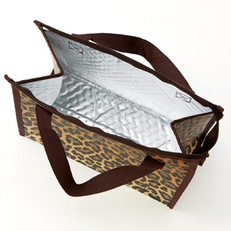 Non Woven Insulated Lunch Bags Leopard Print Fabric Tote Bag Las Cooler Warm Pattern Patterns