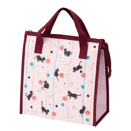 Non Woven Insulated Lunchbag Anese Cat Fabric Tote Bag Las Lunch Cooler Thermal Insulation P25jan15