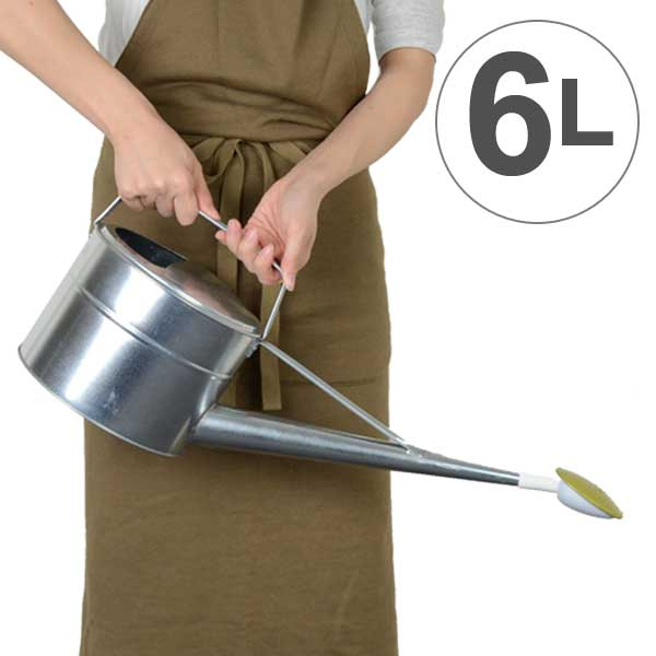 トタン製で頑丈なジョーロ じょうろ 散水トタンジョーロ いつでも送料無料 6L 如雨露 ジョーロ 水差し トタン 舗 ジョウロ ブリキ